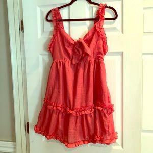 Red/pink ruffle dress